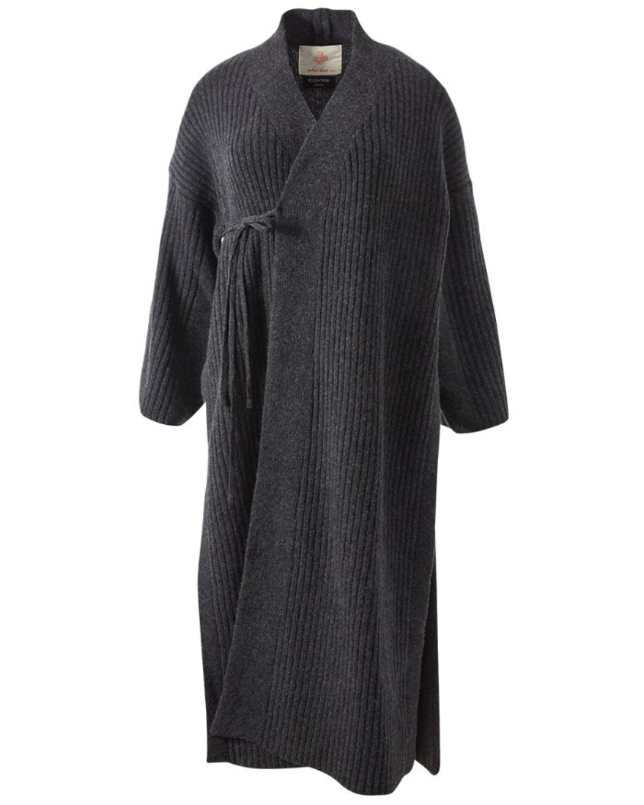 Knit Baenaet coat_Deep Gray