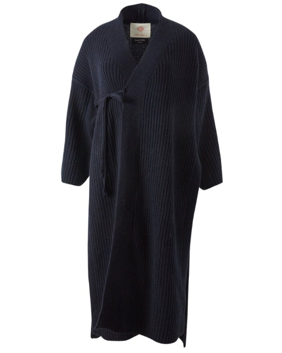 Knit Baenaet coat_Navy