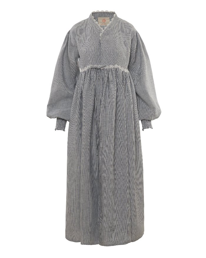 *SALE* Smocking Cheolik coat_Linen_stripe